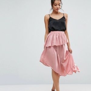ASOS: SATIN MIDI SKIRT